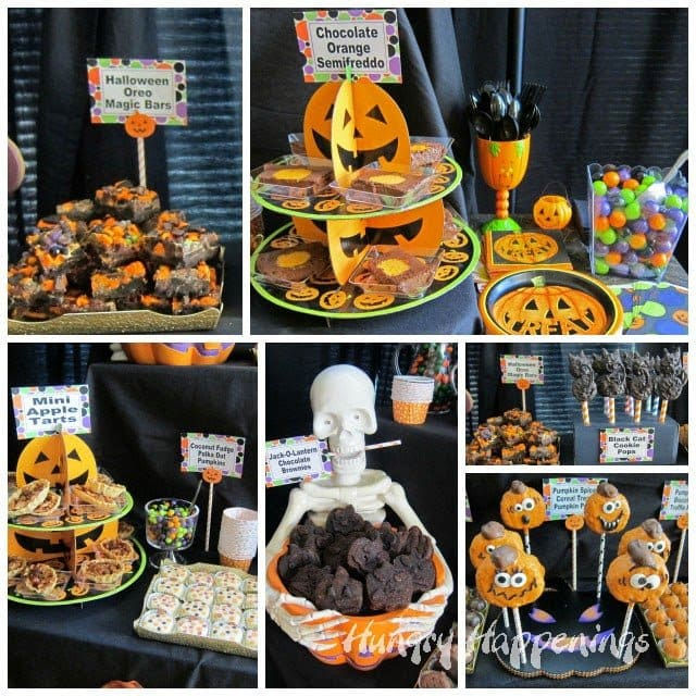 Pumpkin Themed Treats for a Halloween Party | HungryHappenings.com