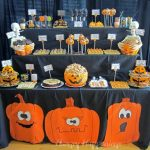 pumpkin carving party dessert table