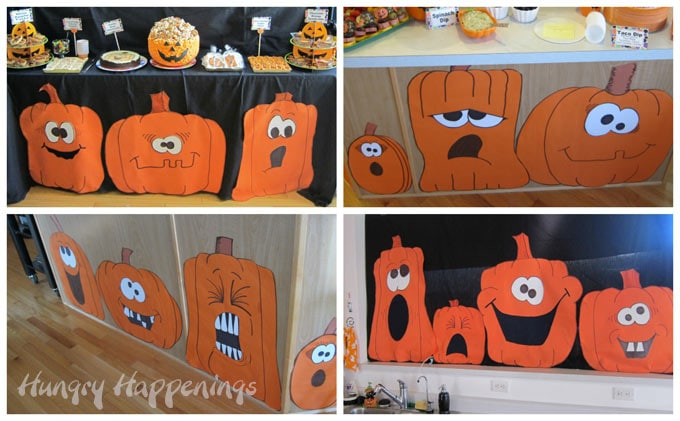 cute and silly jack-o-lantern decorations