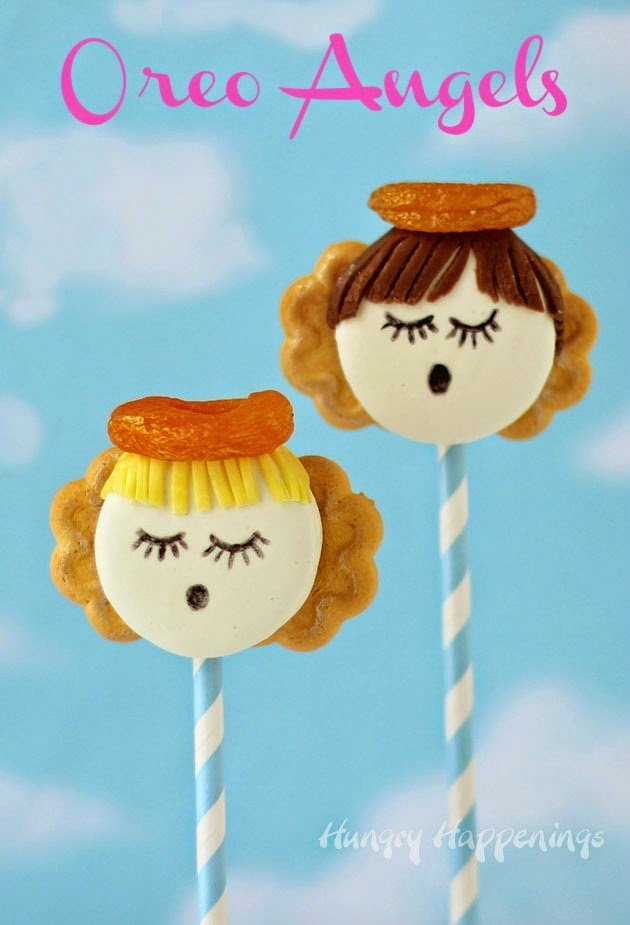 Oreo Angels are heavenly little treats for Christmas, Vacation Bible School, or Sunday School | HungryHappenings.com