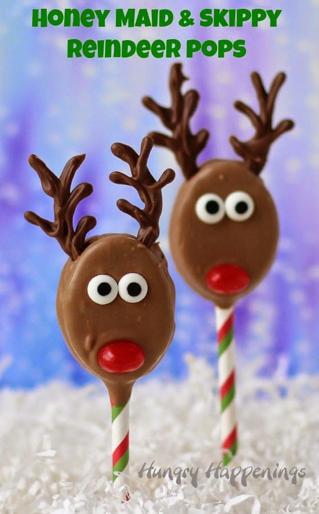 Honey Maid and Skippy Reindeer Pops look as sweet as they taste. | HungryHappenings.com