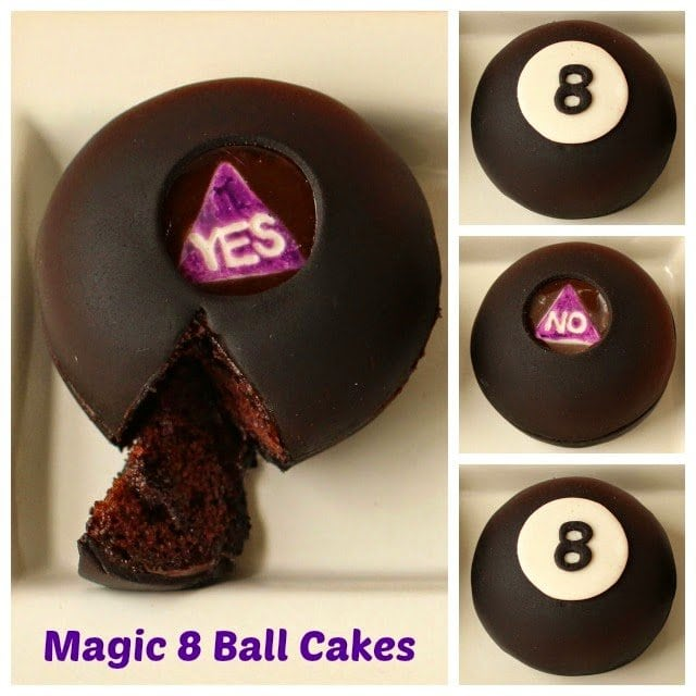 Magic 8 Ball Cakes | HungryHappenings.com