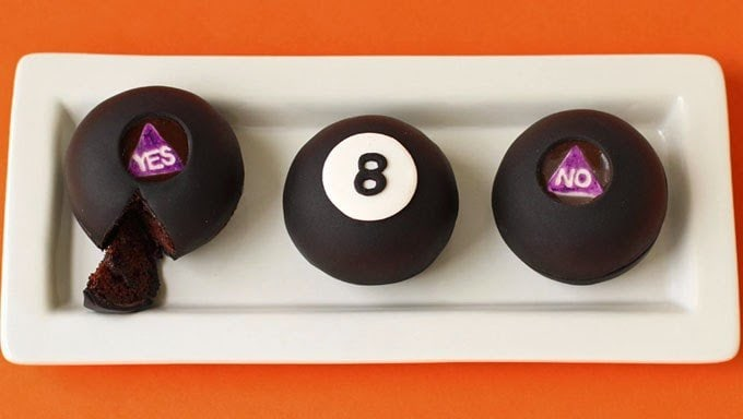Magic 8 Ball Cake | HungryHappenings.com