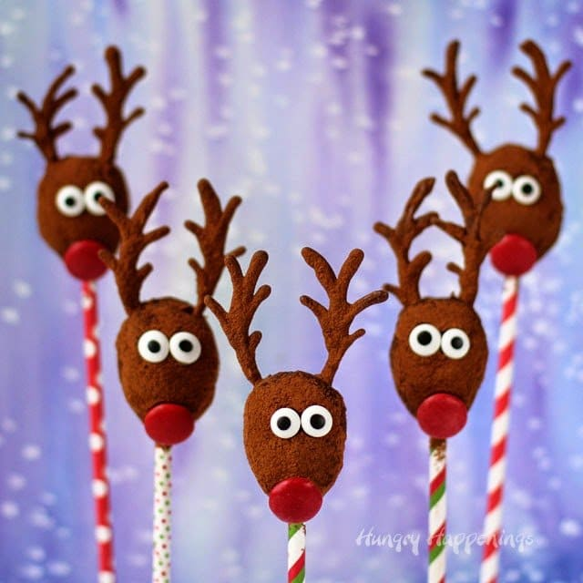 Healthy Holiday Treat Idea - Raisin Reindeer from HungryHappenings.com