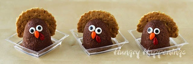 How to make Chocolate Cheesecake Turkeys | Thanksgiving Recipes by HungryHappenings.com
