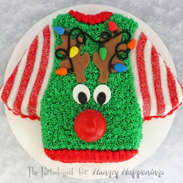 "I won't say for certain, but I have had a few fashion moments when I look back and think to myself ""what was I thinking?""  So today I am going to have a little fun with this...UGLY CHRISTMAS SWEATER CAKE!"