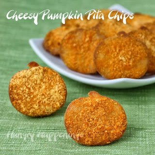 Cheesy Pumpkin Pita Chips