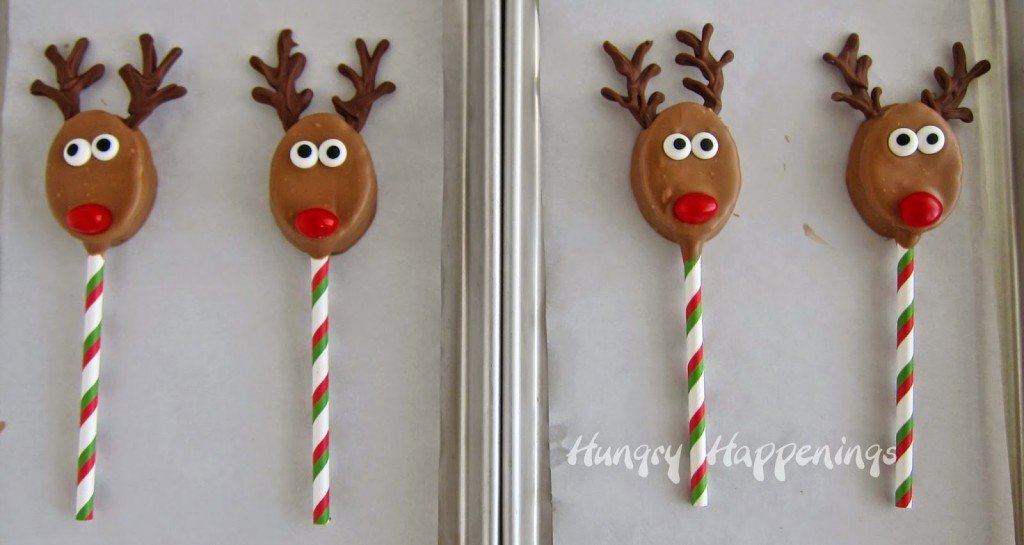 Rudolph the Red Nose Reindeer Lollipops for Christmas from HungryHappenings.com