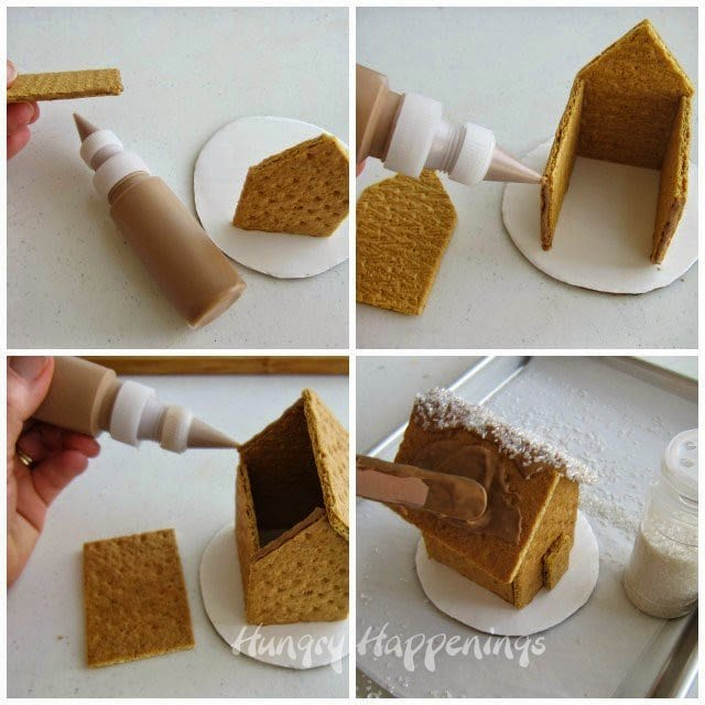 How to build a graham cracker house for Christmas from HungryHappenings.com