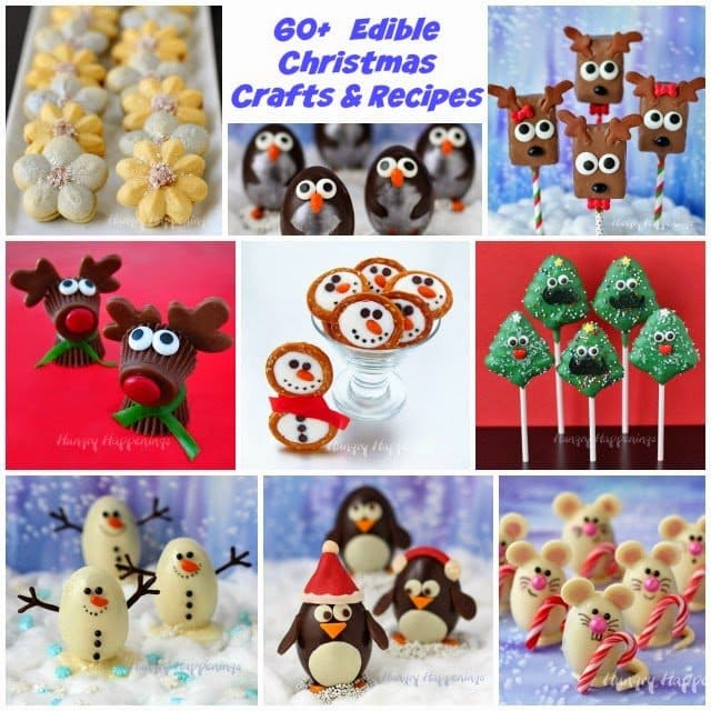 60+ Edible Christmas Crafts and Recipes | Hungryhappenings.com