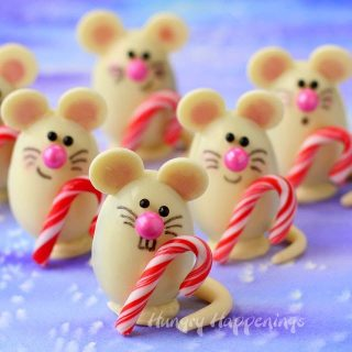 Triple Chocolate Truffle Christmas Mice made with Silk Cashew Milk