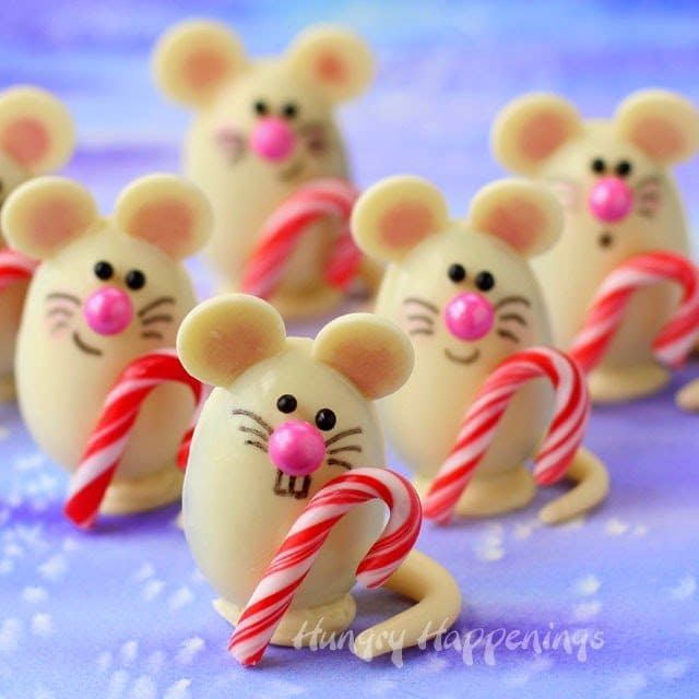 I had a chance recently to try the new Silk Cashew Milk which I used to make the ganache that is inside these adorable Triple Chocolate Truffle Christmas Mice as part of a sponsored post for Tap Influence. #SilkCashew
