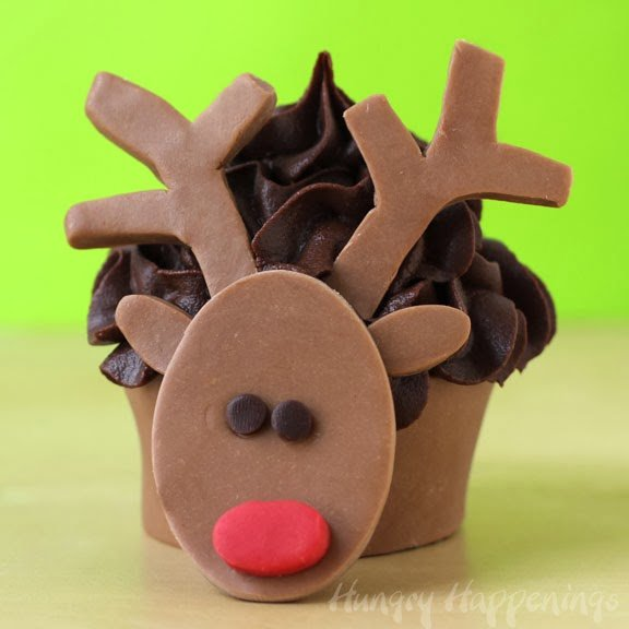 Chocolate Reindeer Cupcake Wrappers
