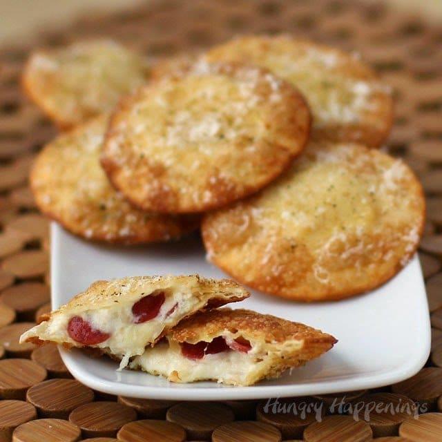 Fried Pepperoni Ravioli and Pepperoni Polka Dot Bread