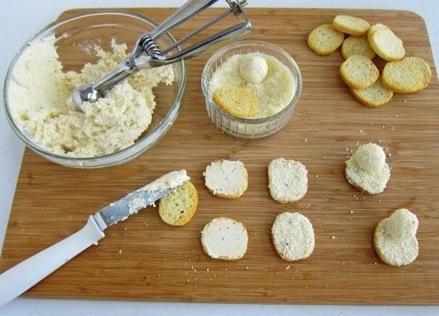 How to make Mini Melting Snowman Cheese Balls