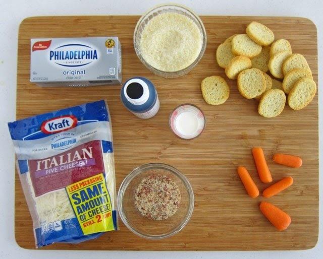 #TasteTheSeason Melting Snowman Cheese Ball Recipe Ingredients