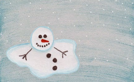 Melting Snowman Printable Food Tags