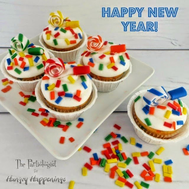 Hi all, it's Kim The Partiologist, wishing you a Happy New Year! Are you ready to celebrate? Yes, I know, sometimes it's hard to start planning another Holiday celebration right after Christmas. I'm not quite sure how I'll be ringing in the New Year, although, I do see New Year's Confetti Cupcakes in my future.
