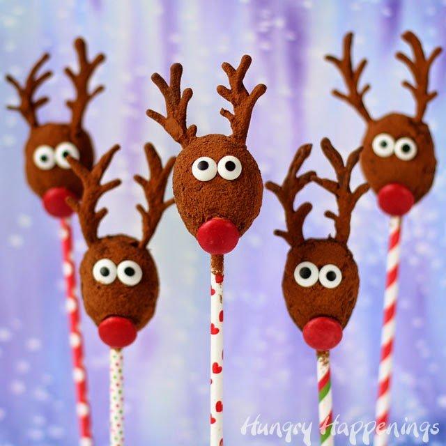 Chocolate Reindeer Pops