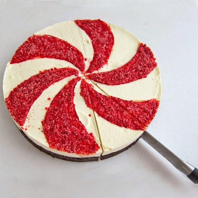 Christmas Desserts - Starlight Mint Mousse Cake   HungryHappenings.com