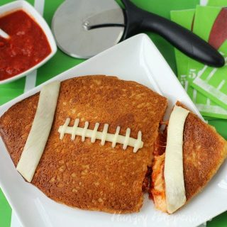 Stuffed Pizza Football for your Super Bowl Party