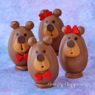 Buckeye Bears – Peanut Butter Fudge Filled Chocolate Teddy Bears