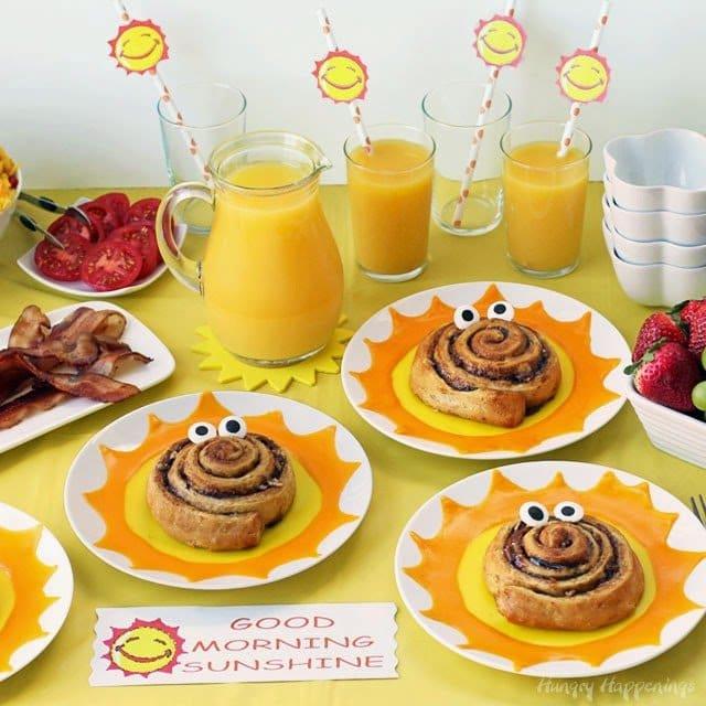 Good Morning Sunshine Sweet Rolls and Breakfast