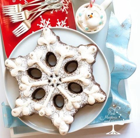 Gingerbread Snowflake Cake