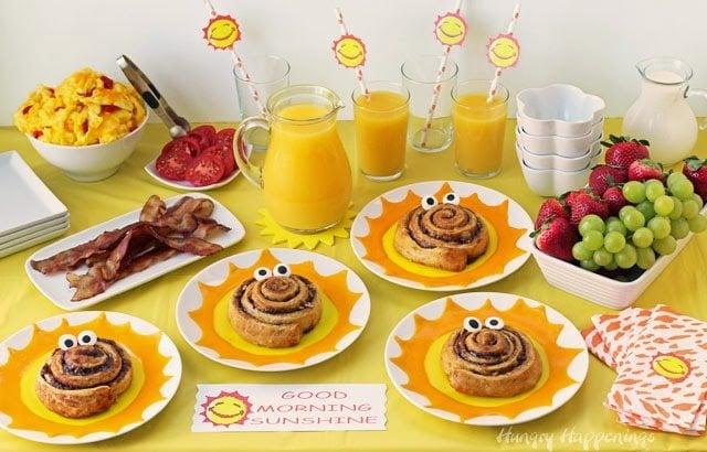 summer breakfast buffet