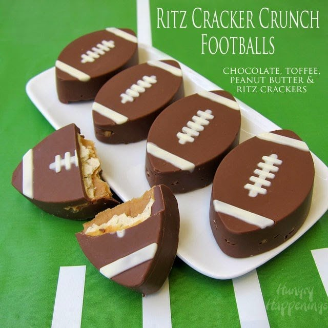 Prepare to party for the Big Game by serving Ritz Cracker Crunch Footballs, Coca-Cola Ganache filled Truffle Footballs, and a Decorated DiGiorno Pepperoni Stuffed Crust Pizza. This post is brought to you by Collective Bias and it's advertiser.
