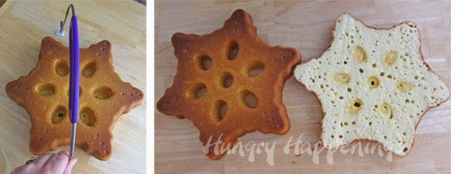 How to make a snowflake cake.