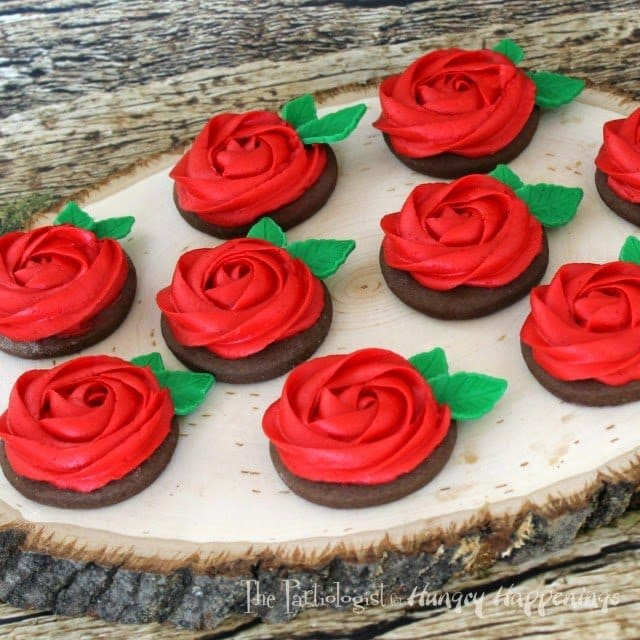 Buttercream Rose Cookies www.ThePartiologist.com