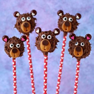 Chocolate Peanut Butter Potato Candy Teddy Bear Pops