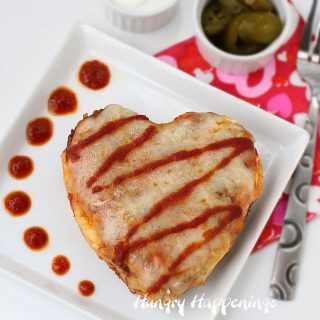 Valentine's Day Dinner – Chicken Enchilada Hearts