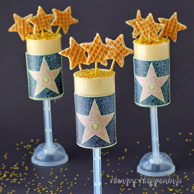 Hollywood Walk of Fame Gold Star Dulce de Leche Push Pops