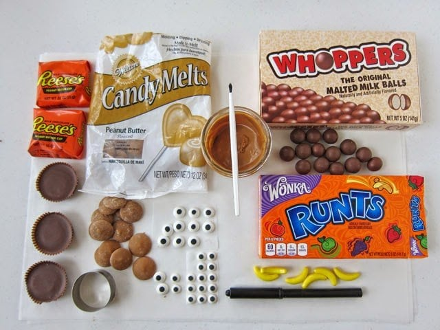 Ingredients needed to make Reese's Cup Monkeys