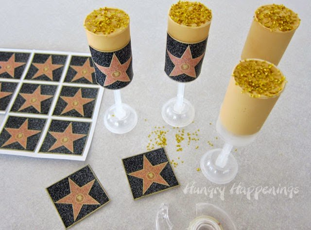 Hollywood Walk of Fame Dulce de Leche Push Pops Recipe from HungryHappenings.com