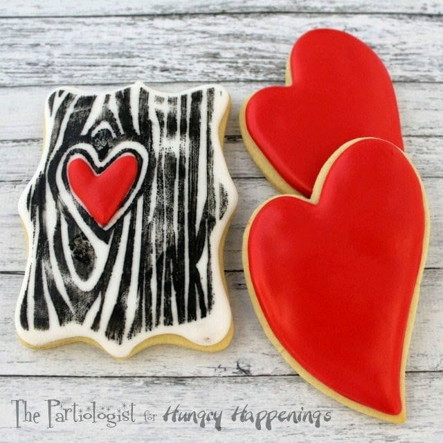 I'm sure you know by now, on Sunday, you get to hear from me, Kim, The Partiologist. I really enjoy my visit to Hungry Happenings each week and try to come up with something new and exciting. I don't know if you would call a tree exciting, but a Tree of Love...now that's exciting!... Tree of Love Cookies!