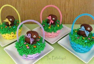 Mini Easter Basket Cakes