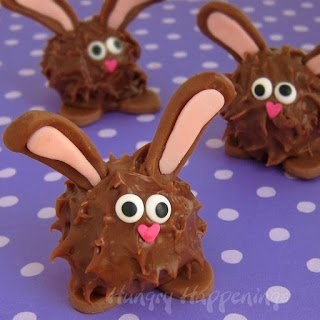 Peanut Butter Fudge Filled Chubby Chocolate Bunnies