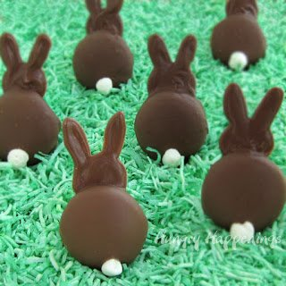 Chocolate Cookie Bunny Butts Easter Treats