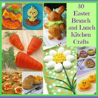 30 Easter Brunch and Lunch Recipes and Food Crafts