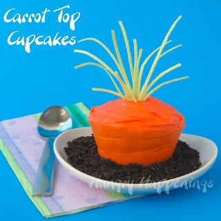 Carrot Top Cupcakes for Easter