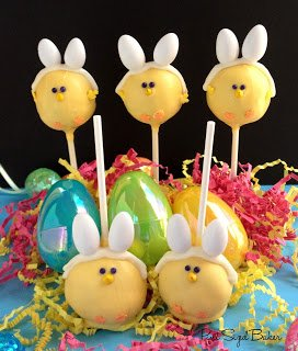 Easter Chick Bunnies - Sweet Easter Cake Pops