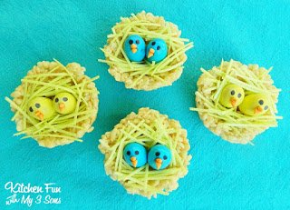 Rice Krispies Baby Bird Nest Treats