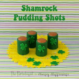 Shamrock Pudding Shots in Edible Shot Glasses
