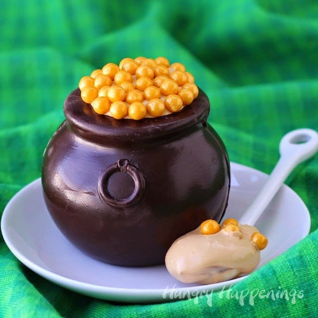 St. Patrick's Day isn't a party type holiday for most people, but serving an amazing dessert like a Chocolate Pot of Gold filled with Dulce de Leche Mousse after dinner will make it a meal to remember.