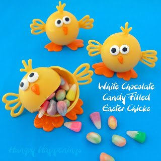 White Chocolate Candy Filled Easter Chicks