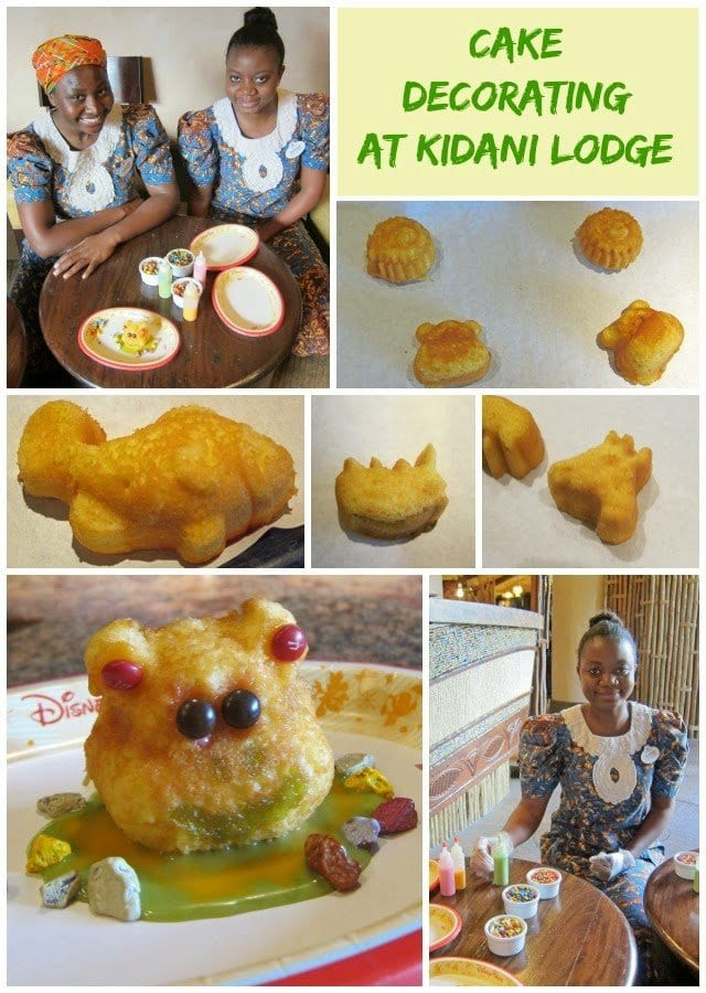 Cake Decorating Activity at Kidani Lodge in the Animal Kingdom Lodge Walt Disney World Resort