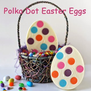Polka Dot Candy Easter Eggs
